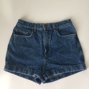 American Apparel High Waisted Mom Jean Shorts 30